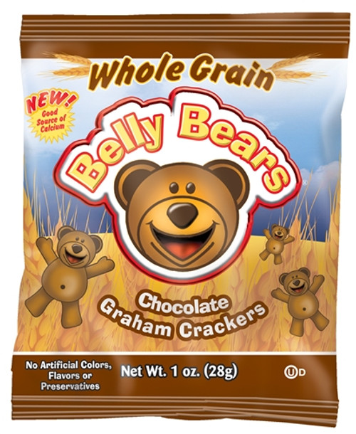 Belly Bears Chocolate Graham Crackers 1 oz. Bags