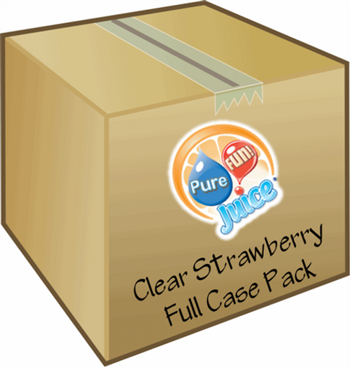 PureFUN! Strawberry Flavored 100% CLEAR Blend Concentrate- FULL CASE