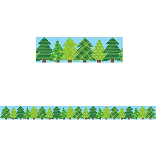 Pine Trees Border No 3 Woodland Friends - 3 in.