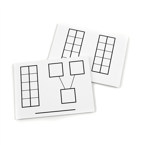 Write and Wipe Ten Frame Mats - 9 in. x 12 in.