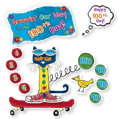100 Groovy Days Of School Bulletin Board Set Featuring Pete The Cat