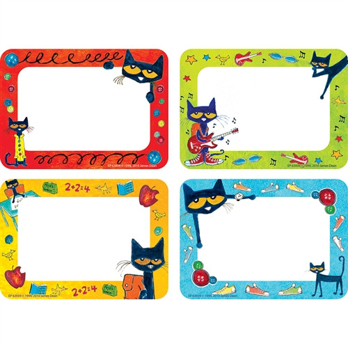 Pete The Cat Name Tags and Labels - 3.5 in. x 2.5 in.