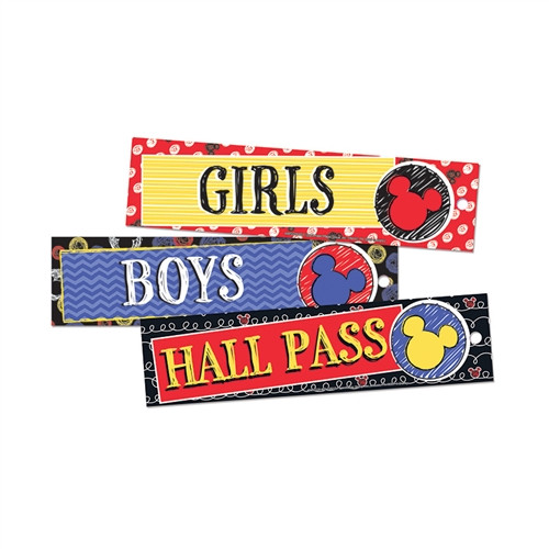 Mickey Color Pop Hall Passes 3 per Set - 2 in. x 6 in.