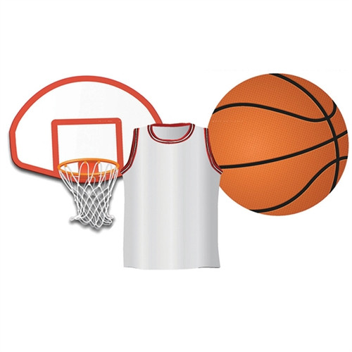 Basketball Assorted Cut Outs - 5 in.