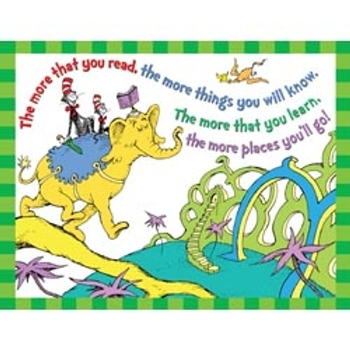 Dr Seuss The More You Read 17 in. X 22 in. Posters