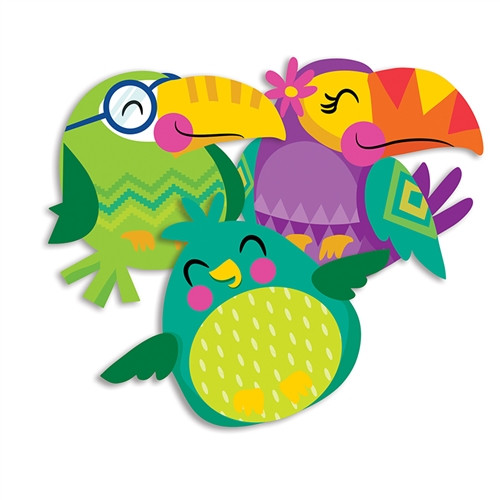 You Can Toucan Bird Paper Cutouts Assorted - 5.5 in. x 5.5 in.