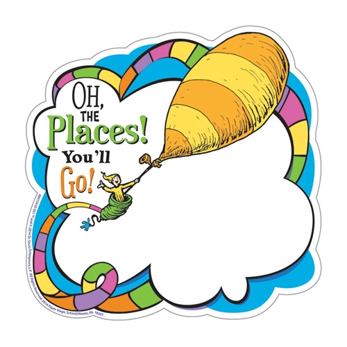 Dr Seuss Oh The Places Paper Cut Outs - 5.5 in. x 5.5 in.