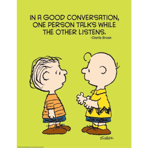Peanuts Talk And Listen Poster - 17 in.x 22 in.