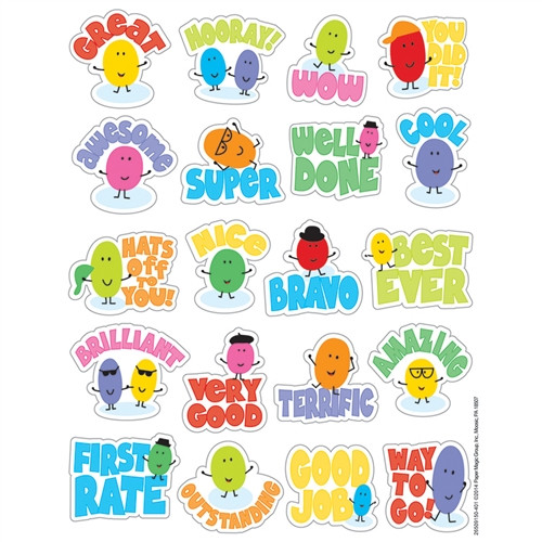Jelly Beans Scented Stickers - 1 in.