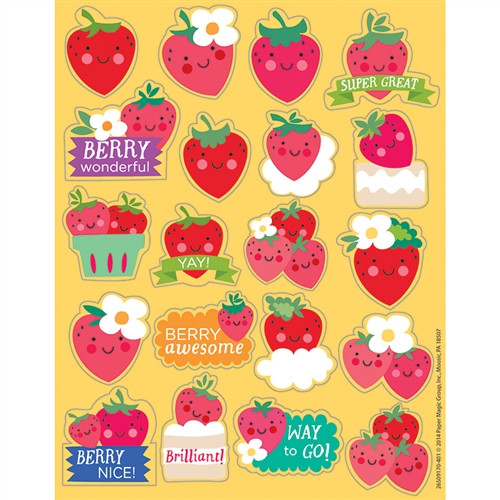 Strawberry Scented Stickers - 1 in.