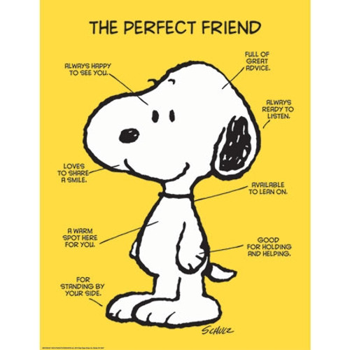 Peanuts The Perfect Friend Poster - 17 in. x 22 in.