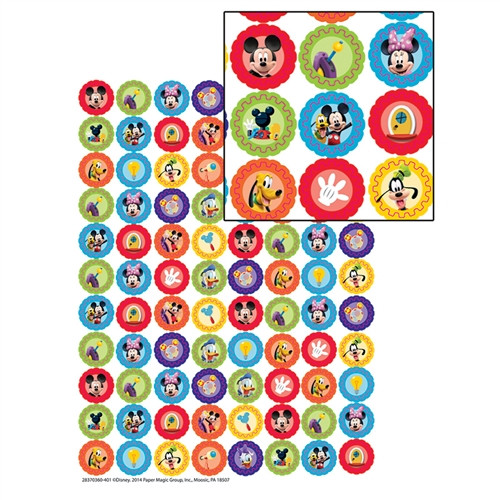 Mickey Mouse Clubhouse Gears Mini Stickers - 0.37 in.