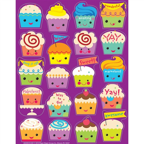 Cupcake Scented Stickers - 1 in.