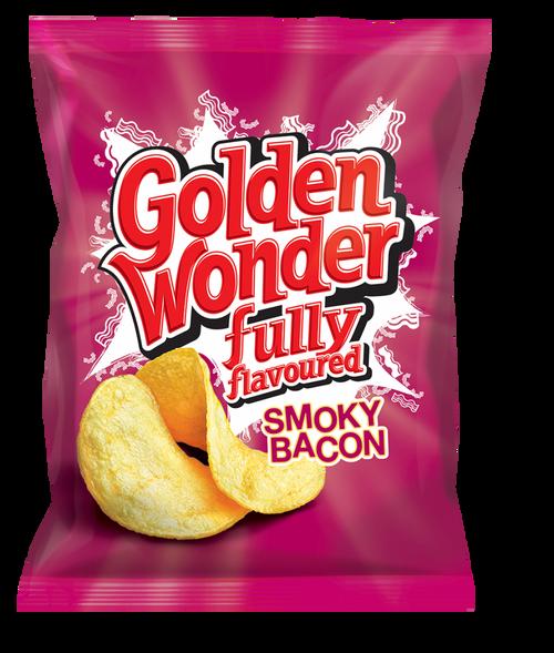 Golden Wonder Smoky Bacon Crisps 32.5g 32 Pack