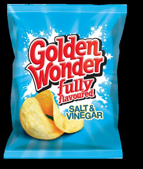 Golden Wonder Salt and Vinegar Crisps 32.5g 32 Pack