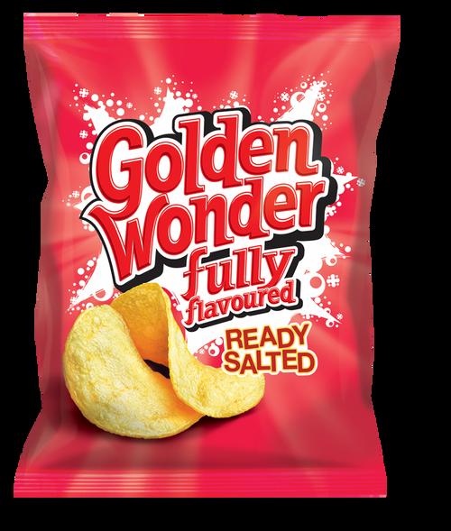 Golden Wonder Ready Salted Crisps 32.5g 32 Pack