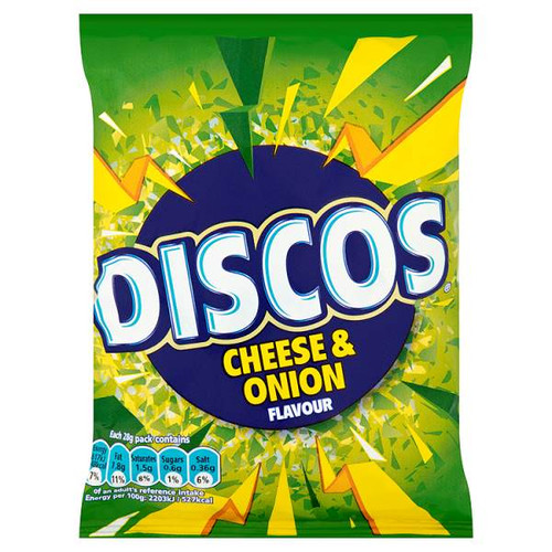 Discos Cheese & Onion Flavour Crisps 25.5g 24 Pack