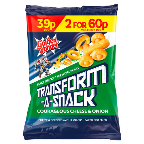 Golden Wonder Transform A Snack Cheese and Onion 30g 30 Pack