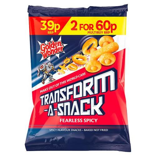 Golden Wonder Transform A Snack Spicy 30g 30 Pack