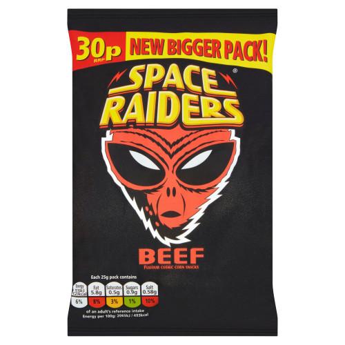 Space Raiders Beef Snacks 25g 36 Pack