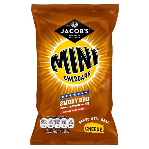 Jacob's Mini Cheddars Smoky BBQ Cheese Snacks 30 X 50g