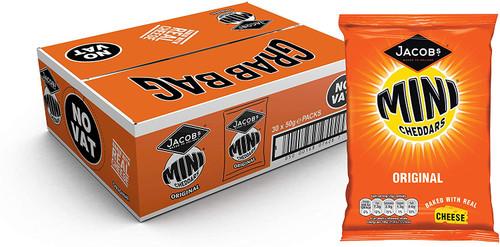 Jacob's Mini Cheddars Original Cheese Snacks 50g 30 Pack