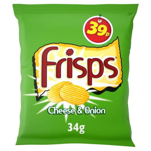 Frisps Cheese & Onion Crisps 34g 30 Pack