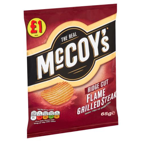 McCoy's Flame Grilled Steak Sharing Crisps 65g 16 Pack