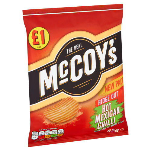 McCoy's Hot Mexican Chilli Sharing Crisps 65g 16 Pack