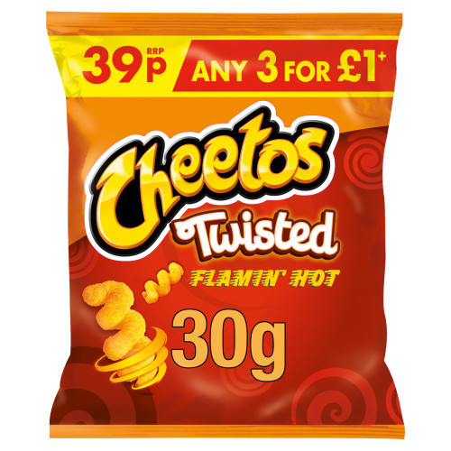 Cheetos Twisted Flamin' Hot Snacks 30g 30 Pack