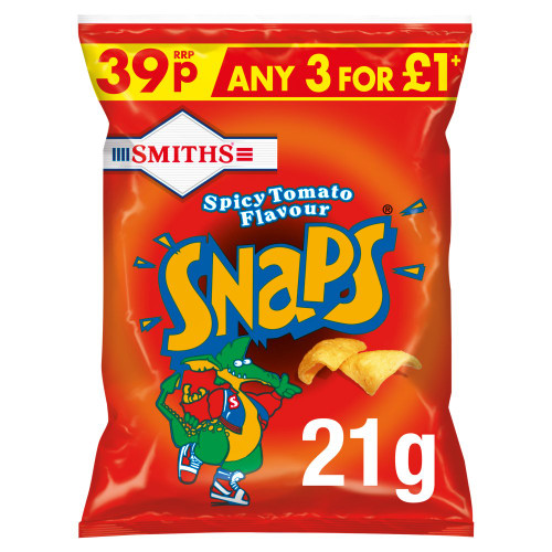 Smiths Snaps Spicy Tomato Snacks 21g 30 Pack