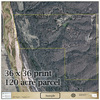 Example of a 11x17 Aerial Property Map 120 acre parcel