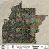 Hinds County Mississippi 2017 Aerial Wall Map