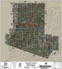 Carroll County Mississippi 2018 Aerial Wall Map