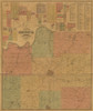 Johnson County,  Kansas 1886 Map