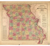 Lloyds Official Map of Missouri 1861 Map