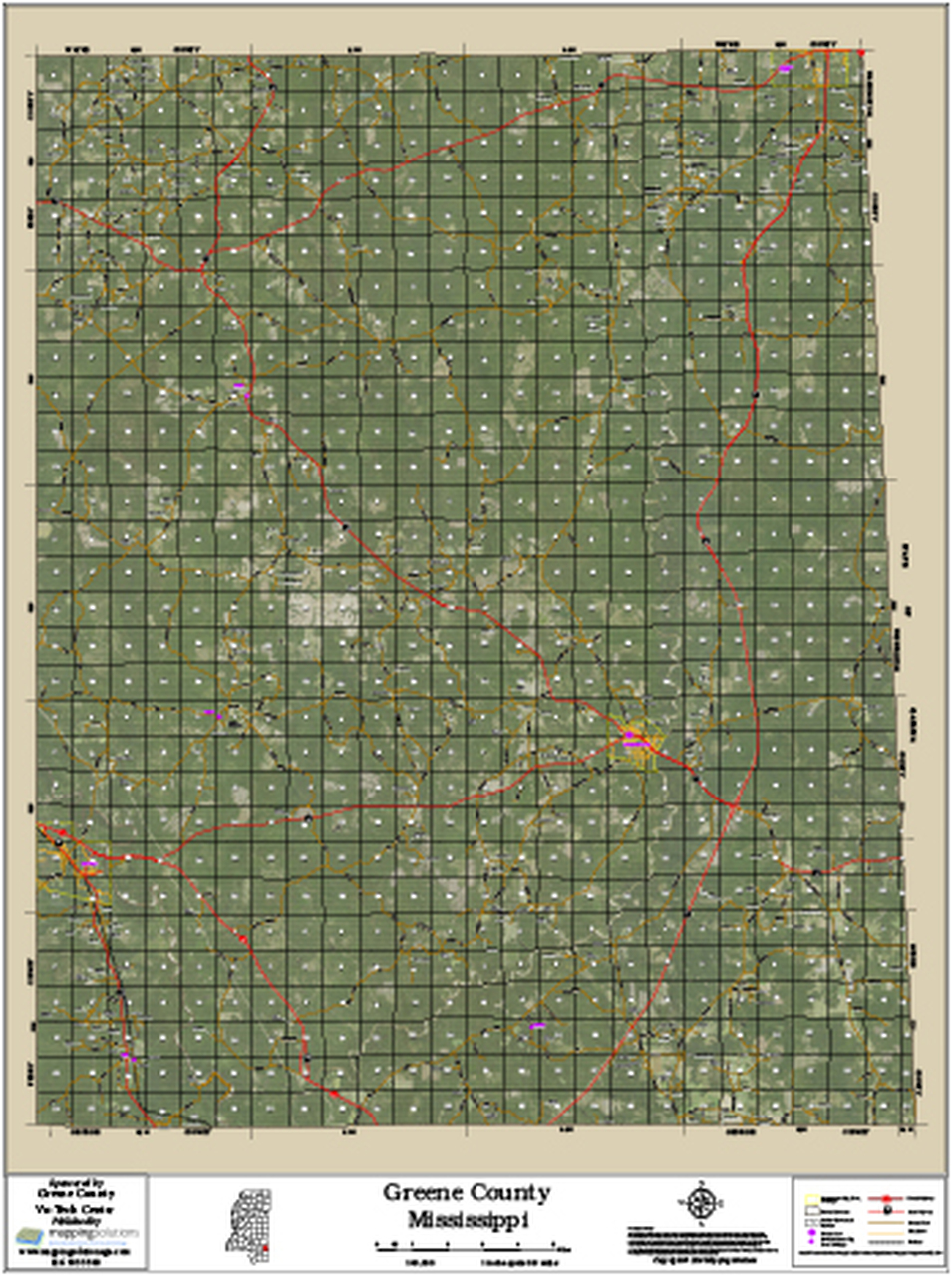 Greene County Mississippi 2016 Aerial Map