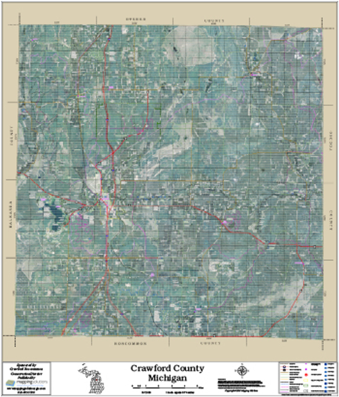Crawford County Gis Mapping Crawford County Michigan 2017 Aerial Map, Crawford County Michigan