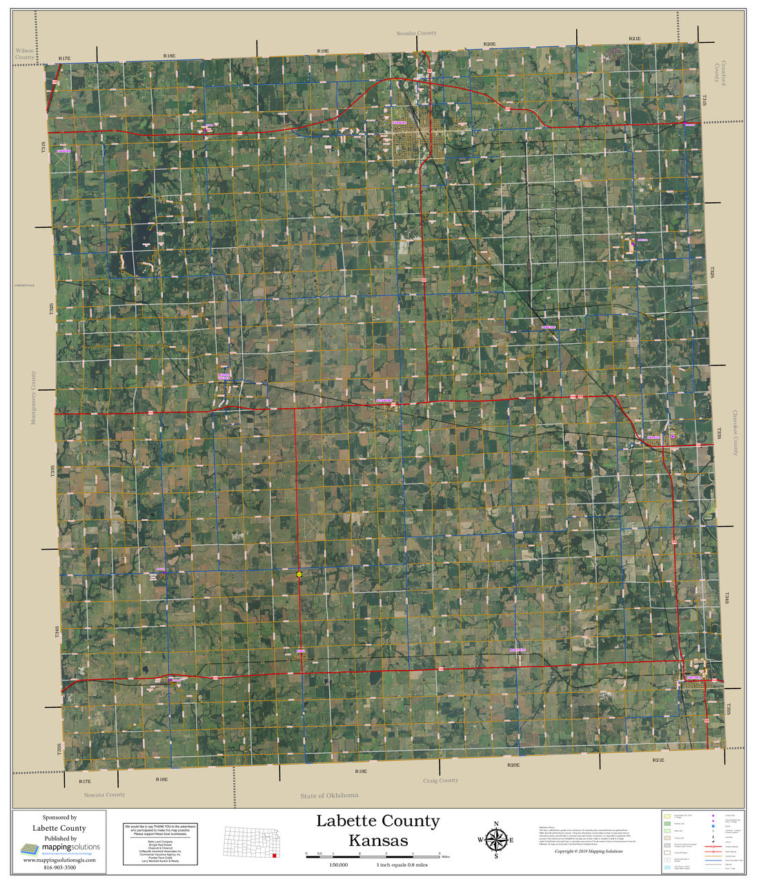 Labette County Kansas 2019 Aerial Wall Map on kansas highway road map, kansas golf courses map, kansas major cities map airports, kansas ghost towns map, kansas highway 70 map, kansas interstate highways, kansas counties and towns, kansas state map, kansas map cities towns,