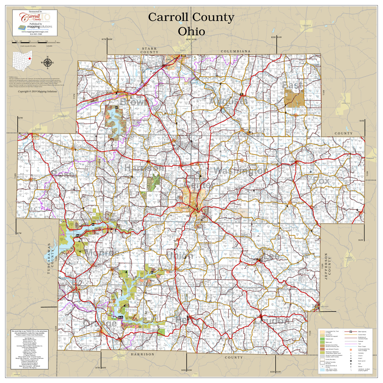 Carroll County Ohio 2019 Wall Map on jefferson county, mercer county, fairfield county, brown township ohio map, stark ohio map, conneaut ohio map, magnolia ohio map, carrollton ohio map, wayne county, washington court ohio map, delaware county, columbiana county, grayson county road map, north olmsted ohio map, city of columbus ohio map, jackson county, henry ohio map, lake county, barry county missouri map, west chester ohio map, monroe county, mad river township ohio map, stark county, washington county, montgomery county, ohio ohio map, clark county, tuscarawas county, new franklin ohio map, united states ohio map, franklin county, miami township ohio map, harrison county, marion county, prince george's county cities map, washington county arkansas road map, fairfield township ohio zoning map, mahoning county,