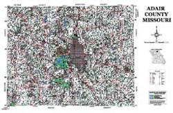 Adair County Missouri 2006 Wall Map