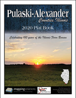 Pulaski-Alexander Counties Illinois 2020 Plat Book