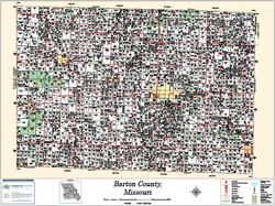 Barton County Missouri 2013 Wall Map