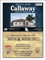 Callaway County Missouri 2021 Plat Book