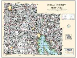 Cedar County Missouri 2010 Wall Map
