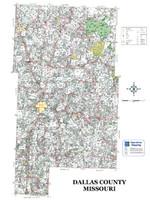 Dallas County Missouri 2008 Wall Map