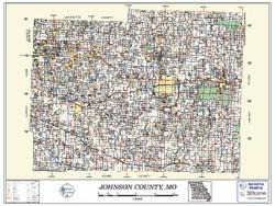 Johnson County Missouri 2011 Wall Map