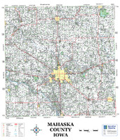 Mahaska County Iowa 2008 Wall Map