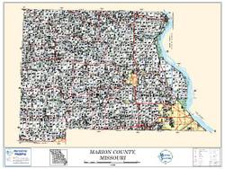 Marion County Missouri 2010 Wall Map
