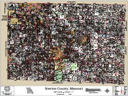 Newton County Missouri 2016 Wall Map
